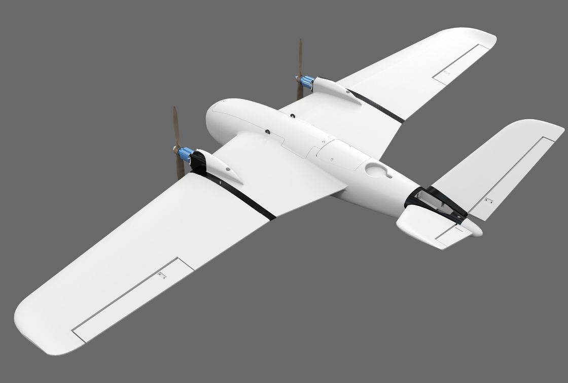 2500mm Wingspan New Material Fixed Wing Drone Double Motor