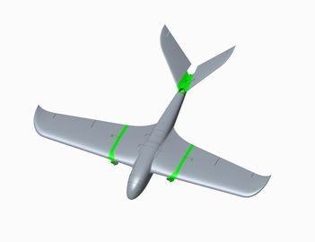 RTK Detachable Twin Motor Fixed-Wing drone Flight Distance80Km and 240Mins Duration for Mapping and Surveillance