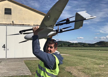 New VTOL Drone 180Mins Endurance 180Km Flight Radius 2.5M Wingspan Battery-Power For Mapping and Military Surveillance