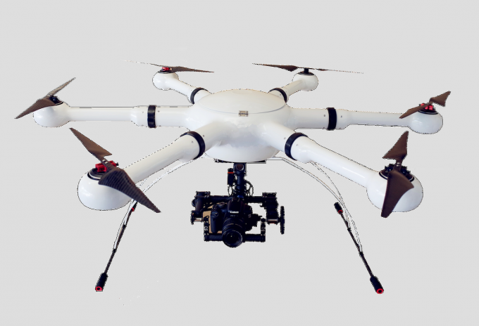 Hexacopter,Police Drone for Surveillance.40-60mins duration 5km flight distance and 5km video transmission