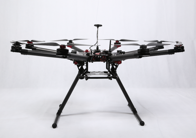 Automatic Octocopter Drone ,Strong Carbon  Fiber and Alloy Frame with Retractable Gear 12Kg Take Off Weight