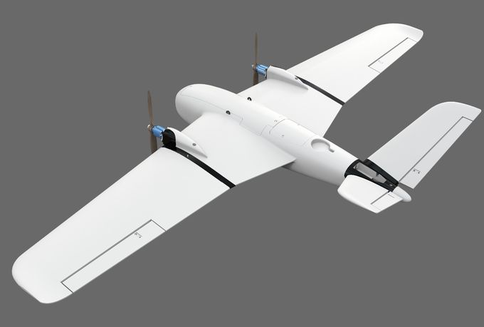 2500MM Wingspan New Material Fixed Wing Drone Double Motor 240Mins Duration For Mapping And FPV Surveillance