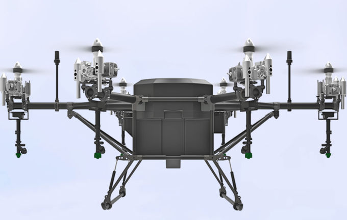 New Gasoline Fueled 40L(40KG Payload) Agricultural Spray Drone 3Hours Endurane Autonomous Obstacle Avoidance
